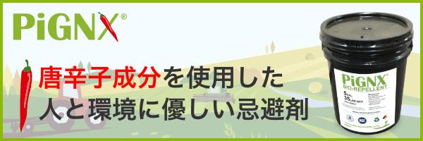 PiGNX (ピグニクス)- 天然成分由来の鳥獣・害虫 忌避剤 - | PiGNX JAPAN 株式会社 オフィシャルサイト